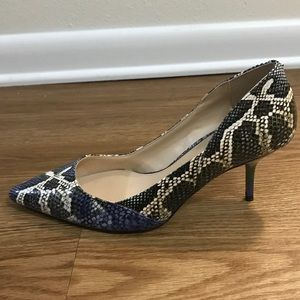 Zara woman multi coloured snake skin kitten heels